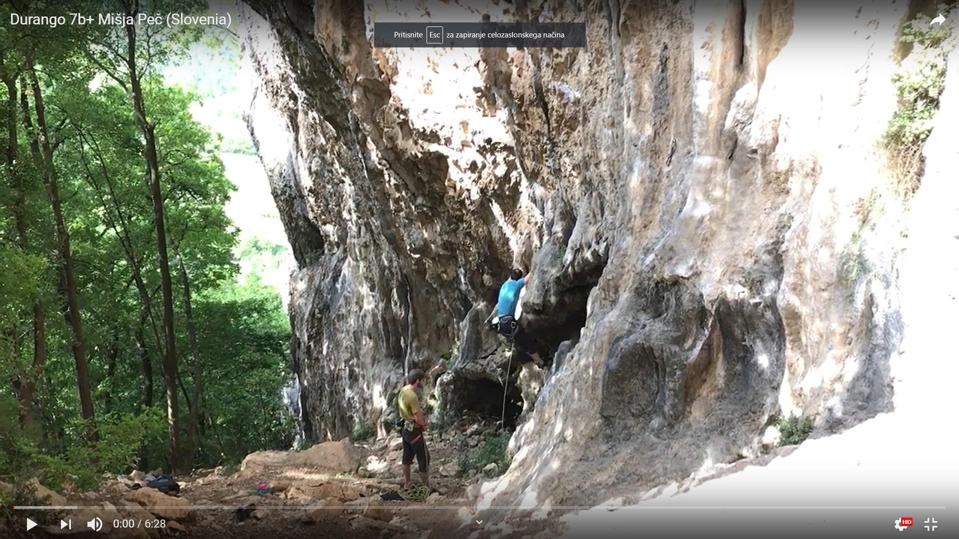 Posnetek plezanja v skali